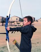 young archer - stock photo