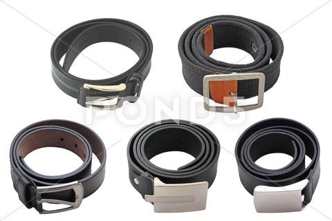 Stock photo of collection of belts