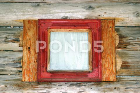 Stock photo of small lodge window