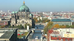 Berliner Dom with Spree - Timelapse Video Stock Footage