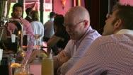 Enjoying a local town bar (7 of 13) Stock Footage