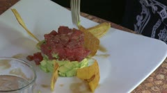 Enjoying a tasty dish (3 of 9) Stock Footage