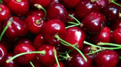 Ripe cherry Stock Footage