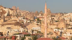 The town of Goreme in Cappadocia, Turkey. Stock Footage