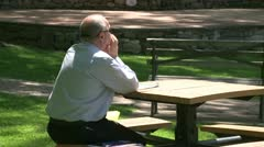 Older gentleman enjoying the park (1 of 1) Stock Footage
