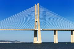 Stock Photo of vasco da gama bridge, lisbon, portugal