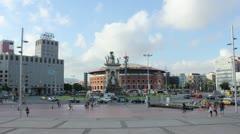 TIMELAPSE: Placa d'Espanya/ Plaza de España - daytime Stock Footage
