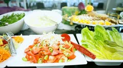 Eat, food on the table - stock footage