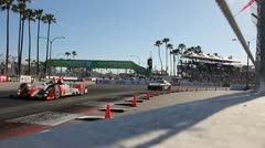 American Le Mans Race During Long Beach Grand Prix 2011 04 Stock Footage