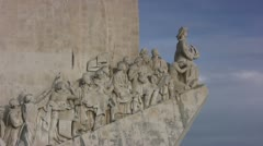 Discoveries Monument close up view Stock Footage