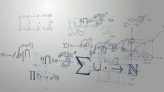 Mathematic equations Stock Footage