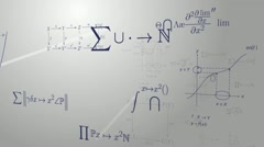 Mathematical formulas - stock footage
