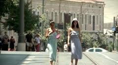 Jaffa Street of Jerusalem 3 Stock Footage