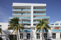 Modern South Beach condominium - stock photo
