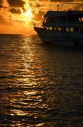 Sunrise in the Caribbean - stock photo