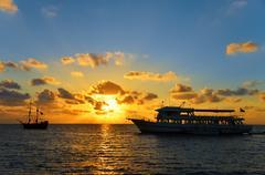 Stock Photo of Orange and Blue Sunrise