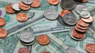 4K. Dollars And Cents. Shot Slider. Stock Footage