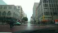 Stock Video Footage of Rainy Car Intersection 01 HD