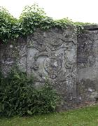 Stock Photo of old stone relief on a wall