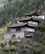 traditional building near yangtze river - stock photo