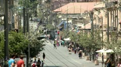 Jaffa Street of Jerusalem 5 Stock Footage