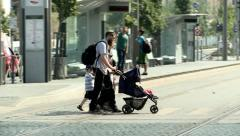 Jewish Family in Jerusalem Stock Footage