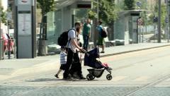 Jewish Family in Jerusalem - stock footage
