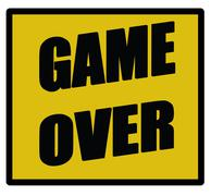 game over sign - stock illustration