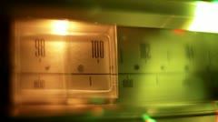 glowing vintage radio dial - stock footage