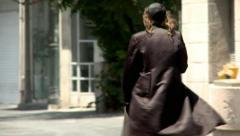 Orthodox Man in Jerusalem 2 Stock Footage