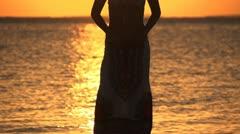 Beautiful girl. Sunrise 2 Stock Footage