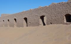 egyptian building - stock photo