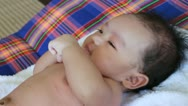Asian baby Stock Footage