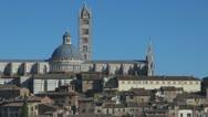 Cityscape of Siena, Tuscany, Italy Stock Footage