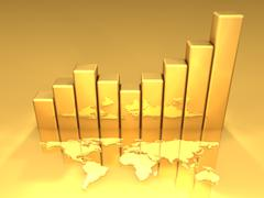 gold chart - stock illustration