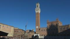 Siena ,Piazza del Campo,Italy,Toscana. Stock Footage