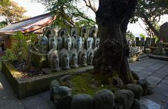 jizo statuettes - stock photo