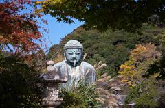 great buddha statue in kamakura - stock photo