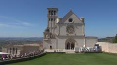 Church, Basilica, Italy, Assisi. Stock Footage