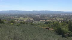 A beautiful view of the valley in Tuscany. Stock Footage
