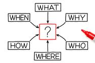 Questions diagram red marker Stock Illustration