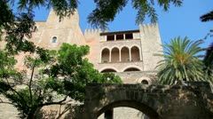Royal Palace in Palma de Mallorca Stock Footage