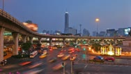 Central transport hubs in Bangkok Stock Footage