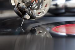 vintage record - stock photo