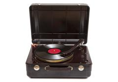Stock Photo of retro portable turntable
