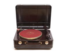 old record player - stock photo