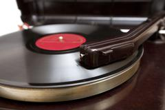 vintage record close-up - stock photo