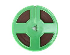 green magnetic tape - stock photo