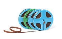reel-to-reel audio tape - stock photo