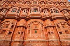 hawa mahal - stock photo